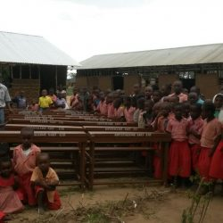 School with donated desks