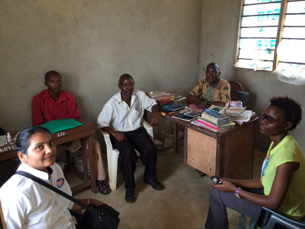 Mt Zion Primary school staff and Krystalline Salt employees