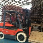Electric fork lifts are greener and energy efficient.