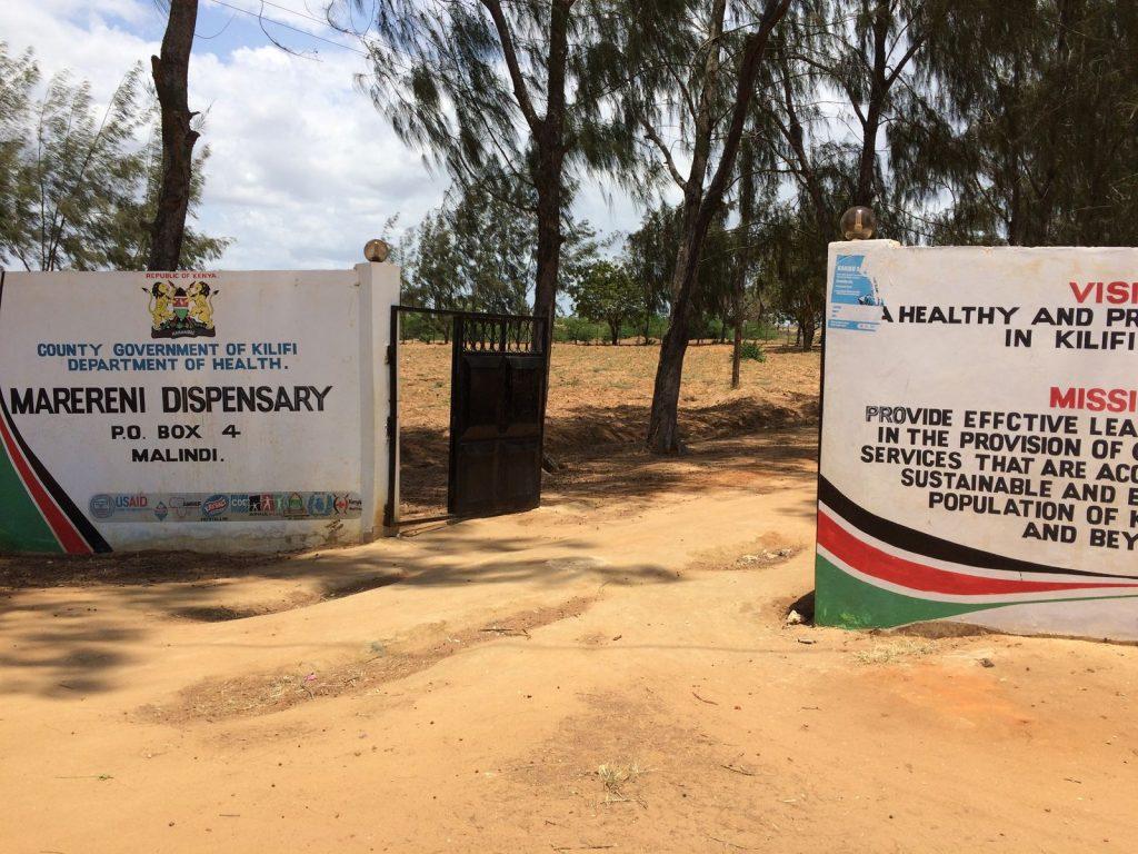 Marareni Maternity Ward and Dispensary Entrance.