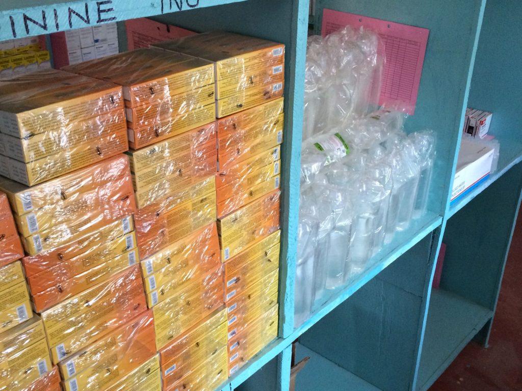 Medical suplies in Marereni Dispensary