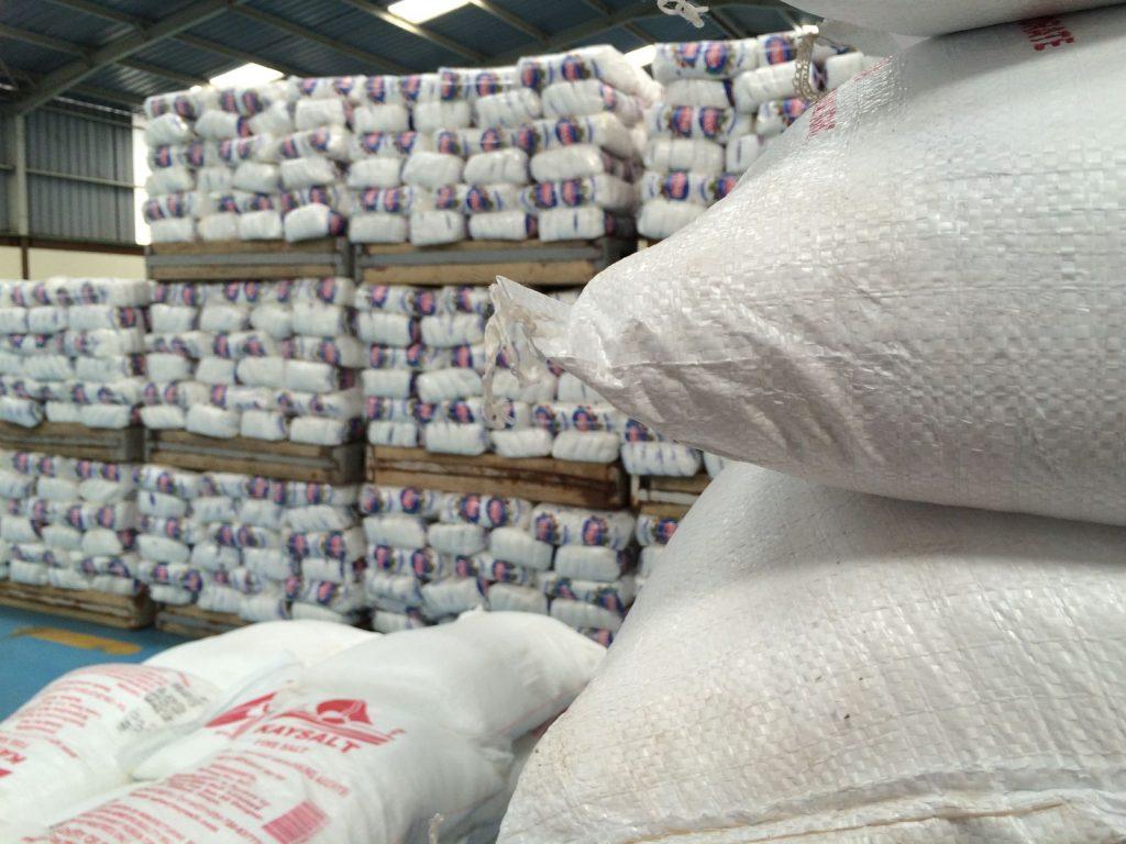 Stacks of salt